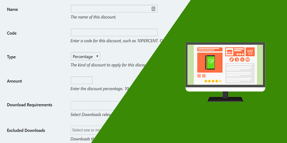 easy digital downloads allow users to create coupons on the frontend