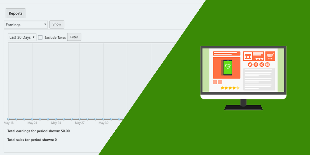 easy digital downloads allow users to view sales reports on frontend